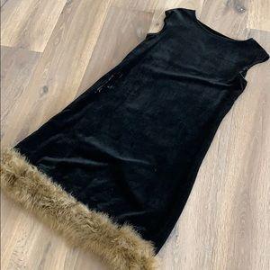 Original 1925 black velvet flapper/evening dress